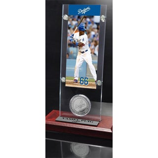 MLB Yasiel Puig Ticket and Bronze Coin Acrylic Desk Top