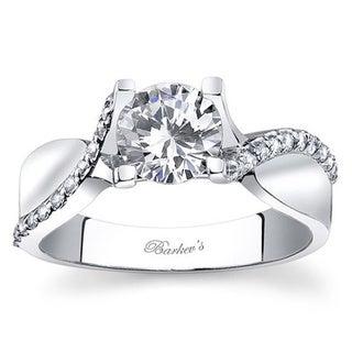 Barkev's Designer 14k White Gold Twist Diamond Ring (F-G, SI1-SI2)