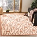Safavieh Indoor/ Outdoor Courtyard Beige/ Terracotta Rug (2' x 3'7)