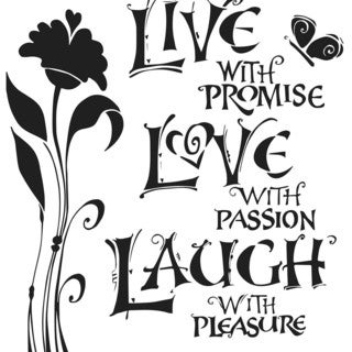 """Crafter's Workshop Template 6""""X6""""-Live, Love & Laugh"""