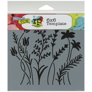 """Crafter's Workshop Template 6""""X6""""-Wildflowers"""