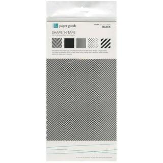 "Shape 'n Tape Washi Sheets 6""X12"" 5/Pkg-Black"