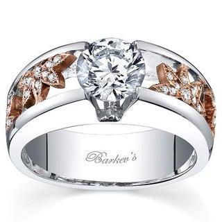 Barkev's Designer 14k 2 Toned Gold 1 1/6ct TDW Diamond Ring (F-G, SI1-SI2)