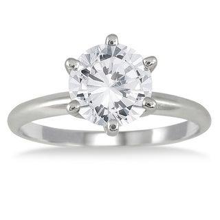 14k White Gold 1 1/2ct TDW Round Diamond Ring (I-J, I1-I2)