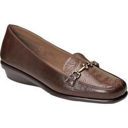 Women's A2 by Aerosoles Elaborate Loafer Brown Combo Faux Leather