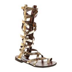 Women's Steve Madden Rivaal Gladiator Sandal Gold Leather