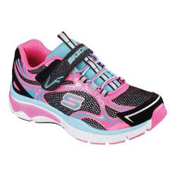 Girls' Skechers Relaxed Fit Infusion Sneaker Black/Blue/Pink