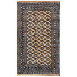 Pakistani Hand-knotted Bokhara Tan/ Ivory Wool Rug (4'11 x 8'3)