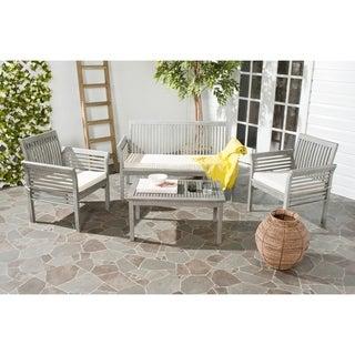 Safavieh Carson Grey Wash Acacia Wood 4-piece Outdoor Furniture Set