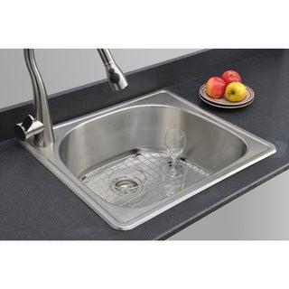 Wells Sinkware 18 Gauge D-shape Single Bowl Topmount Stainless Steel Kitchen Sink