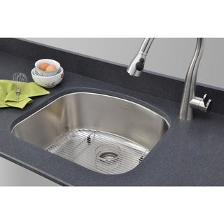 Wells Sinkware 17 Gauge Deck/ 18 Gauge Single Bowl Undermount Stainless Steel Kitchen Sink