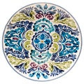 Hand-painted Mood Indigo 14.5-inch Round Ceramic Serving Platter