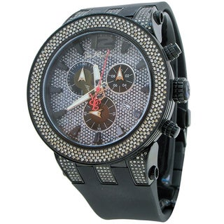 Joe Rodeo Men's 'Broadway' 5ctw Diamond Paved Dial Watch