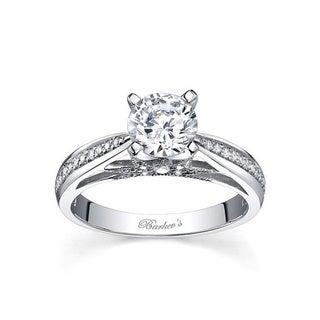 Barkev's Designer 14k White Gold 1ct TDW Round Diamond Engagement Ring (F-G, SI1-SI2)