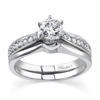 Barkev's Designer 14k White Gold Diamond Bridal Set (F-G, SI1-SI2)