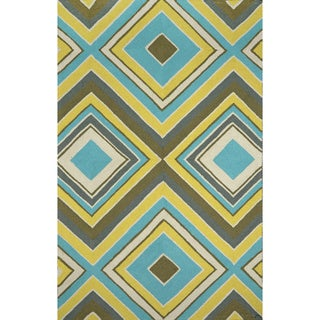 nuLOOM Hand-hooked Outdoor Synthetics Multi Rug (9' x 12')