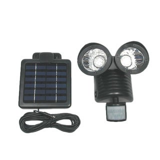 Tricod 22-LED Black Motion Sensor Security Solar Flood Light