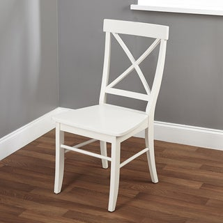 Simple Living Easton Antique White Cross-back Chair