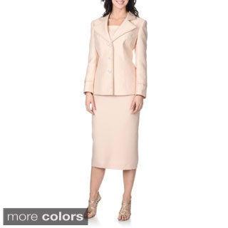 Giovanna Signature Women's Mock 2-piece Skirt Set