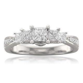 14k White Gold 1ct TDW Princess-cut 5-stone Diamond Ring (H-I, I1-I2)