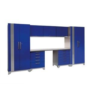 NewAge Products Performance Plus Blue 8-piece Metal Cabinet Set