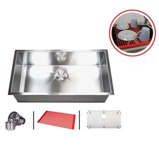 30-inch Single Bowl Undermount Zero Radius Kitchen Sink Combo