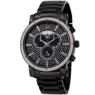 Joshua & Sons Men's Diamond Chronograph Stainless Steel Bracelet Watch
