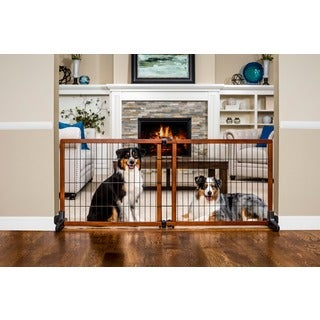 Carlson Pet Extra Tall Wood Free-standing Pet Gate