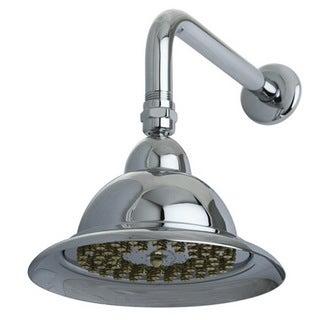 Vintage Bell Chrome/ Polished Brass 6-inch Shower Head