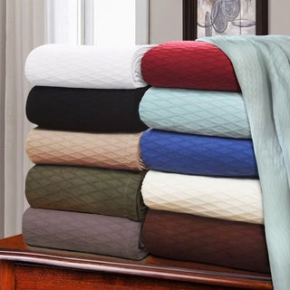 Luxor Treasures All-season Luxurious Diamond Weave Cotton Blanket
