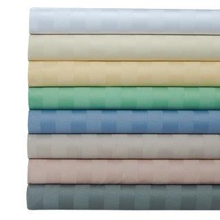 Egyptian Cotton 500 Thread Count Striped Sheet Set with Bonus Pillowcases