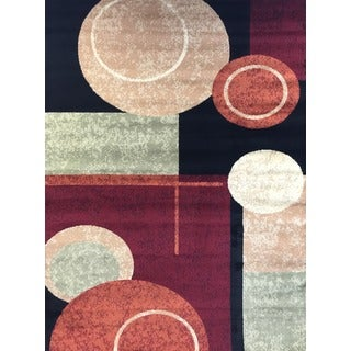 Geometric Burgundy Area Rug (7'10 x 10' 2)