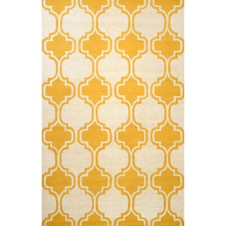 nuLOOM Hand-tufted Moroccan Trellis Wool Gold Rug (8' 6 x 11' 6 )