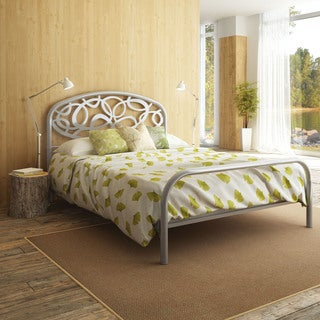 Amisco Alba Silver Grey Queen-size Metal Bed