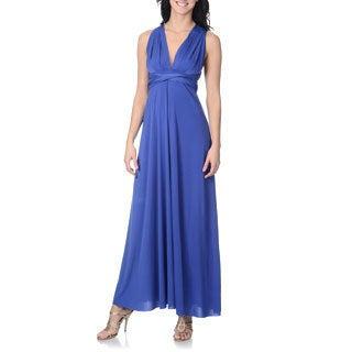 Von Vonni Women's Solid Royal Convertible Gown (One size)