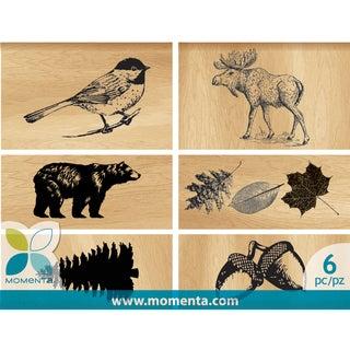 Momenta Mounted Stamp Set 6pcs-Outdoors