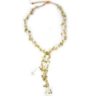 Handcrafted Peridot 'Thai Fern' Necklace (Thailand)