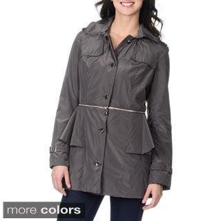 Betsey Johnson Women's Convertible Trench Jacket