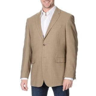 Prontomoda Italia Men's Tan Wool Jacket