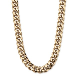 PalmBeach Gold Overlay Men's Curb-link Necklace