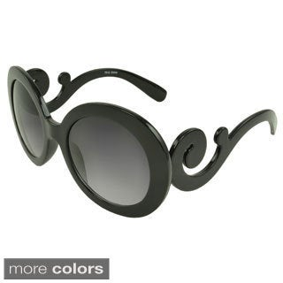 EPIC Eyewear Women's 'Vivien' Round Curled-temple Sunglasses