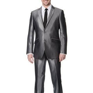 Profile Men's Grey Shark 2-button Slim Suit