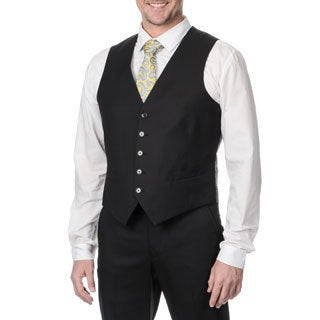 Perry Ellis Men's Black Suit Separate Vest