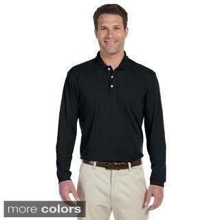 Men's Easy Blend Long Sleeve Polo Shirt
