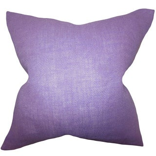 Ellery Lilac Solid Feather and Down Filled Throw Pillow