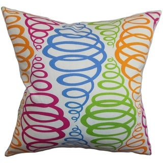 Bara Geometric Multi Color Down Filled Throw Pillow