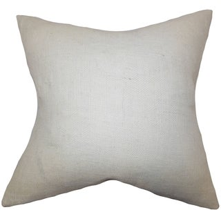Ellery Solid White Down Filled Throw Pillow