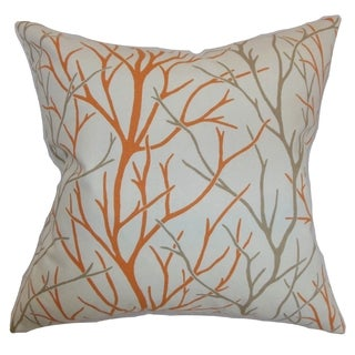 Fderik Trees Tangerine Down Filled Throw Pillow