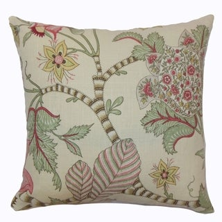 Elodie Pastel Floral Down Filled Throw Pillow