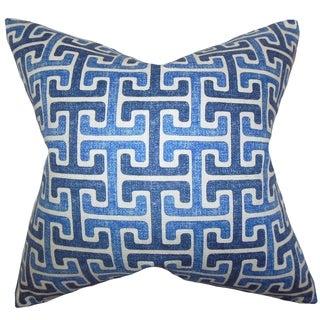 Unai Geometric Down Fill Throw Pillow Blue